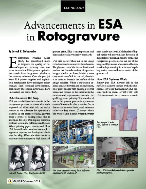Advancements in ESA in Rotogravure