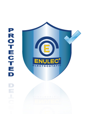 ENULEC technology provide a protective shield against electrostatic charge
